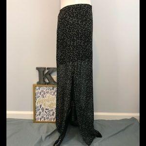 H&M Divided sheer leopard print skirt size 6